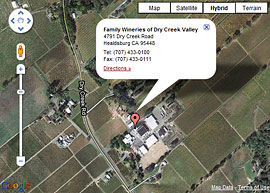 Dry Creek Tasting Room Map